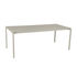 Calvi Rectangular table - / 195 x 95 cm - Aluminium / 10 to 12 people - Removable top by Fermob