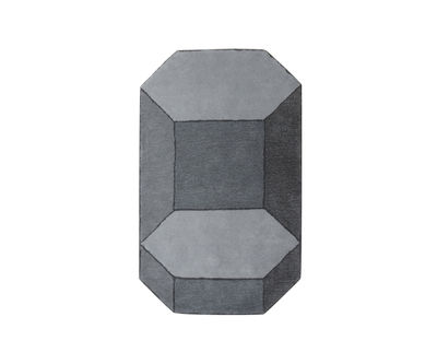 Decoration - Rugs - Basalte Rug - Medium / 90 x 150 cm by ENOstudio - Medium / Grey - New-zealand wool