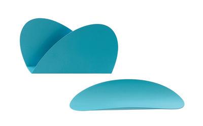 Set Ellipse pour bureau / 1 plateau + 1 porte-enveloppes - Alessi turquoise en métal
