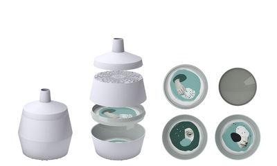 Set vaisselle Babel Make / Saladiers - 4 pièces empilables - Ibride blanc,vert en matière plastique