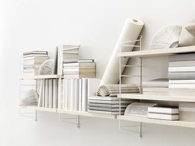 String Furniture String Pocket Shelf White Natural Wood Made In Design Uk