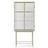 Haze Showcase - / L 70 x H 155 cm - Fluted glass by Ferm Living