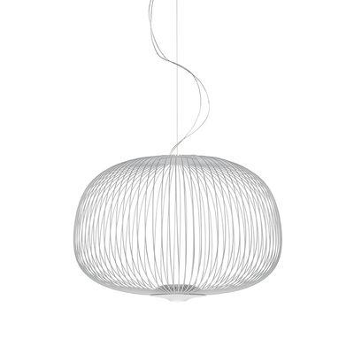 Illuminazione - Lampadari - Sospensione Spokes 3 My Light - / LED - Bluetooth / Ø 61 x H 42 cm di Foscarini - Blanc - Acciaio verniciato, alluminio verniciato