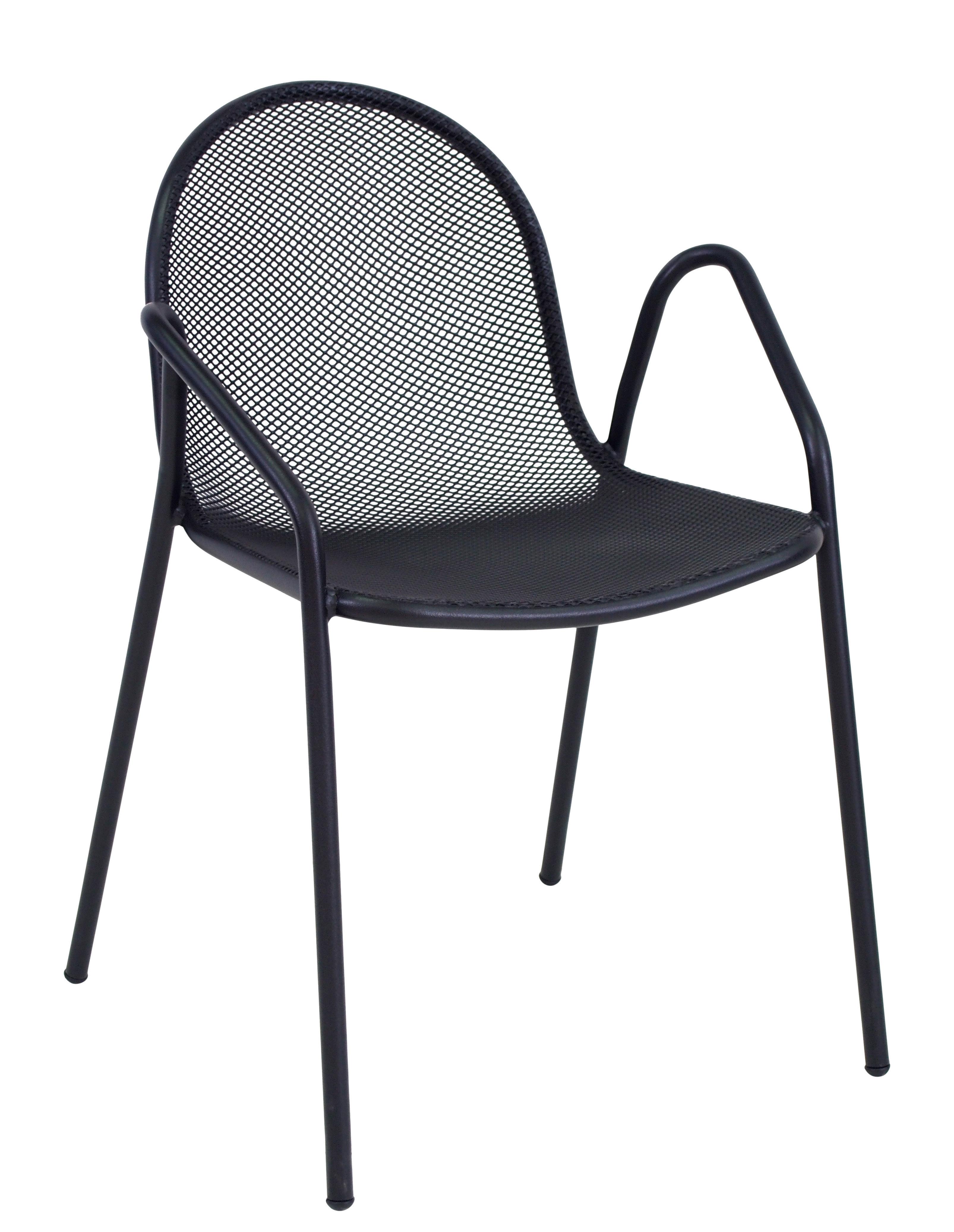 Furniture - Chairs - Nova Stackable armchair - / Metal by Emu - Black - Varnished steel