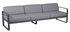 Bellevie Straight sofa - 3 seats / L 235 cm - Grey fabric by Fermob