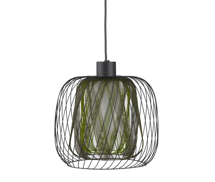 Luminaire - Suspensions - Suspension Bodyless - Ø 23 cm - Forestier - Vert - Métal, Textile