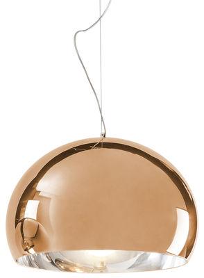 Suspension FL/Y / Ø 52 cm - Métallisée - Kartell cuivre en matière plastique