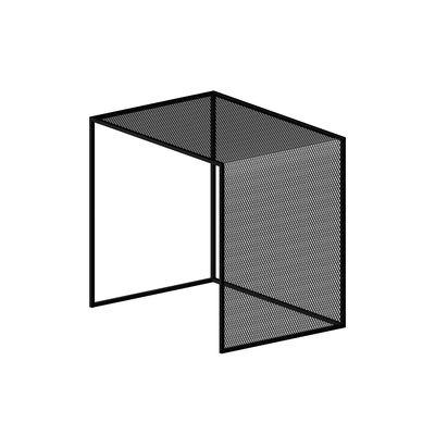 Table basse Tristano / 50 x 40 cm x H 50 cm - Résille d'acier - Zeus noir en métal