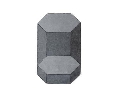 Interni - Tappeti - Tappeto Basalte - / Medium - 90 x 150 cm di ENOstudio - Medium / Grigio - Lana di Nuova Zelanda