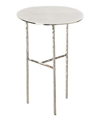 Arredamento - Tavolini  - Tavolino d'appoggio XXX Small - / Ø 33 x H 48 cm di Opinion Ciatti - Nichel - Ferro battuto , Nichel galvanizzato