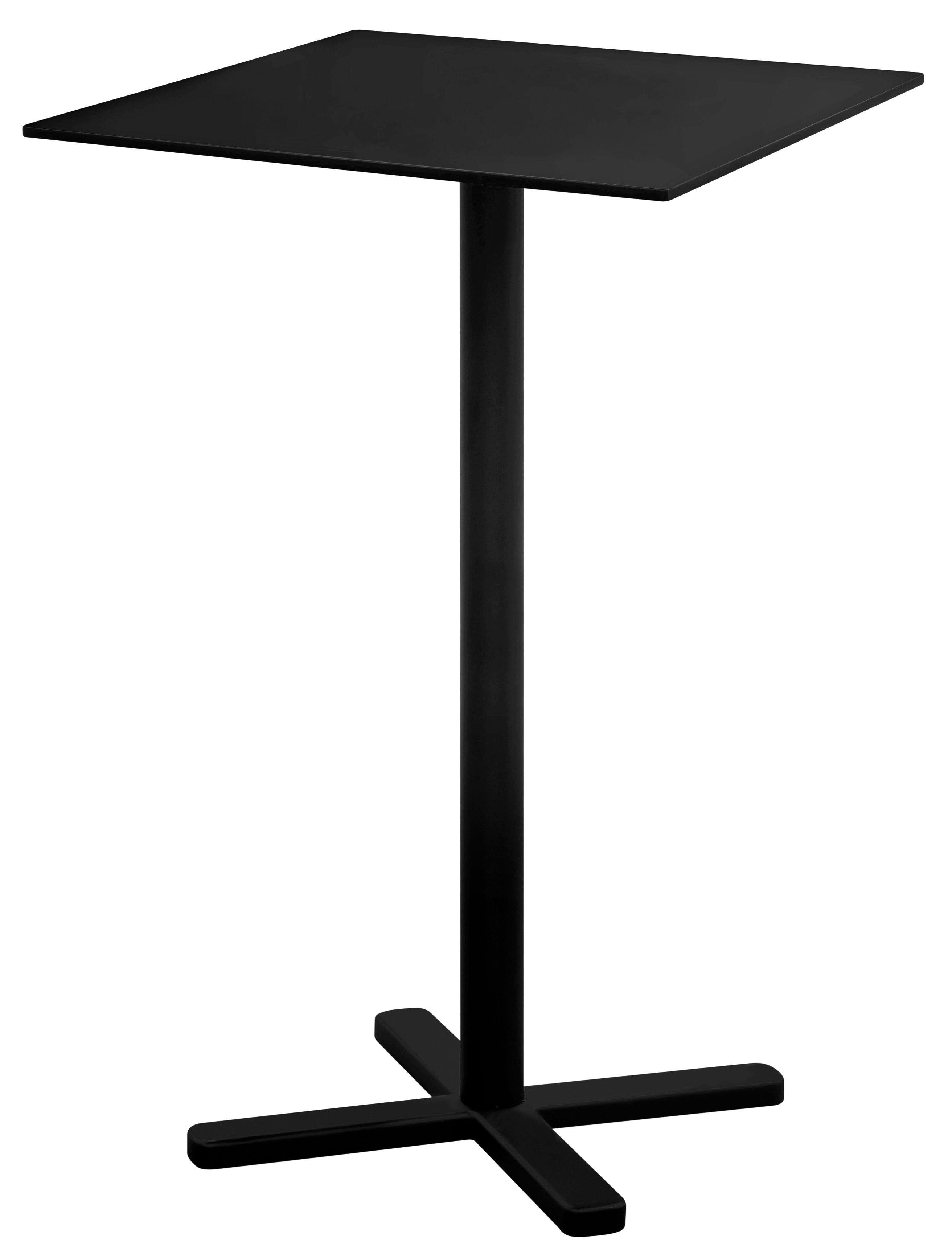 Tavolo bar alto pieghevole darwin di emu nero made in for Tavolo pieghevole design