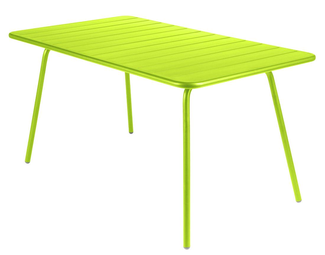 Life Style - Tavolo rettangolare Luxembourg - Rettangolare di Fermob - Verbena - Alluminio laccato
