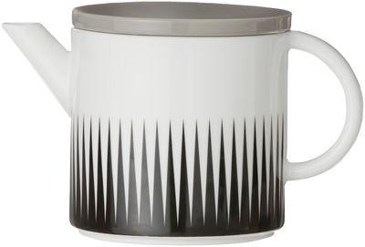 Arts de la table - Thé et café - Théière Geometry - Ferm Living - Noir & blanc - Porcelaine