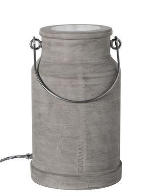 Via lattea Tischleuchte / nur für den Inneneinsatz - Zement - H 37 cm - Karman - Grau