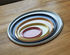 Ellipse Small Tray - / 23 x 18 cm - Metal by Hay