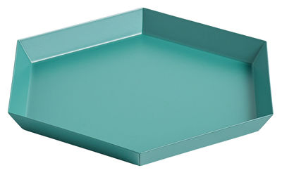 Tableware - Trays - Kaleido Small Tray - 22 x 19 cm by Hay - Emerald green - Painted steel