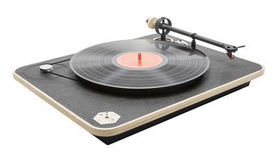 Valentinstag - Geschenke für ihn - LS Vinyl-Schallplatte / Holz & Leder - 33 oder 45 U/min - La Boîte Concept - Holz natur / schwarz - Bois multiplis, Cuir naturel, Karbon