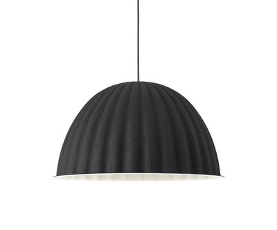 Lighting - Pendant Lighting - Under The Bell Small Acoustic suspension - / Feutre - Ø 55 cm by Muuto - Black - Recycled PET felt