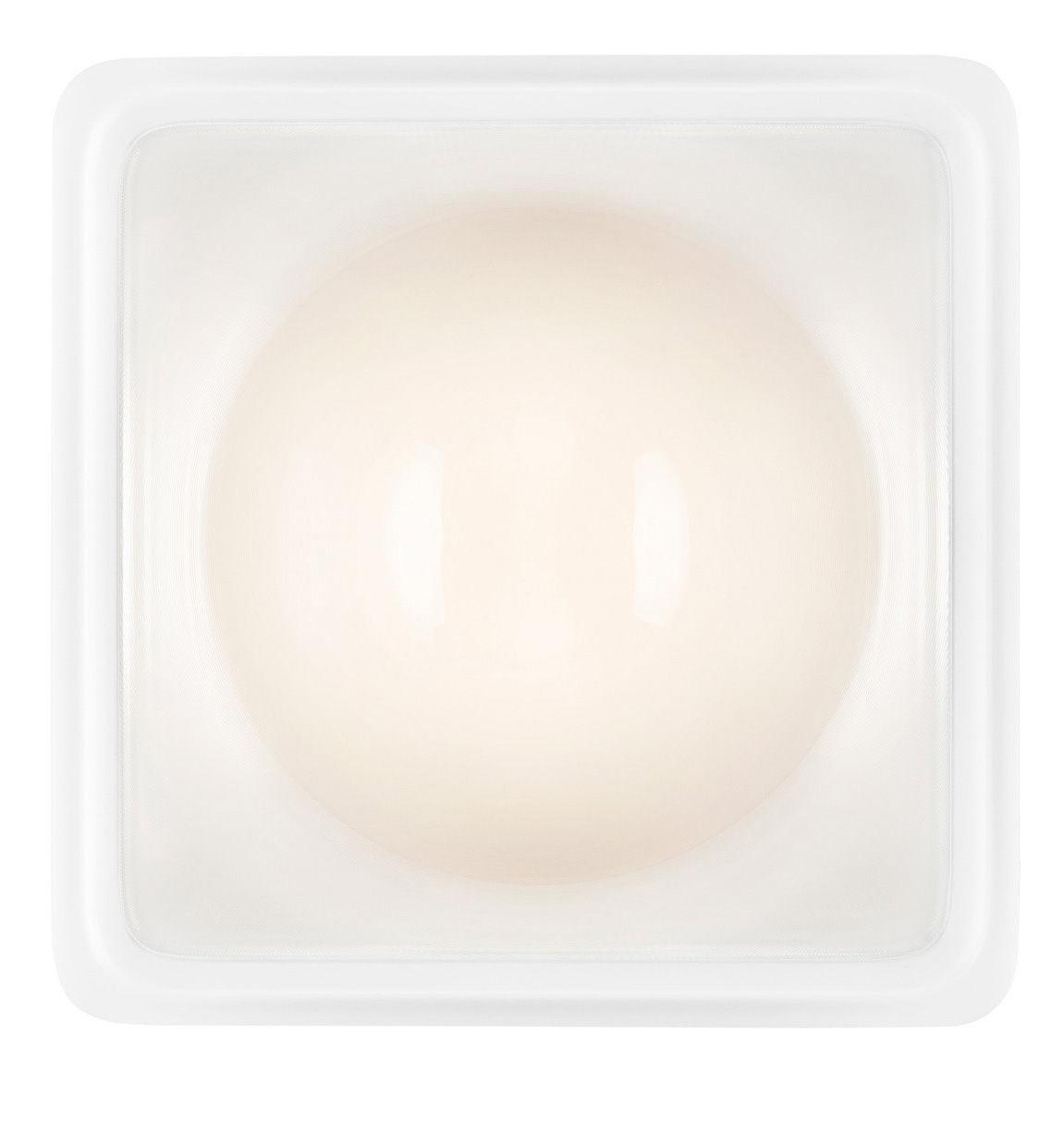 Illuminazione - Lampade da parete - Applique d'esterno Illusion LED - / Plafoniera di Luceplan - Trasparente / bianco - Alluminio, policarbonato