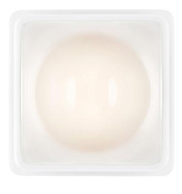 Applique Illusion LED / Plafonnier - Luceplan blanc,transparent en métal