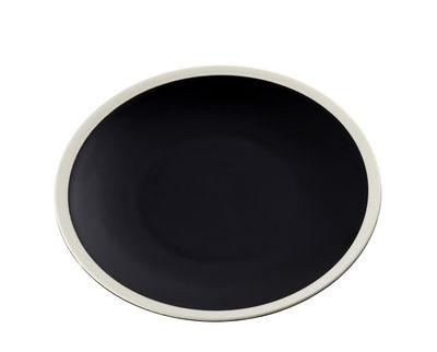 Assiette à dessert Sicilia / Ø 20 cm - Maison Sarah Lavoine blanc,radis noir en céramique