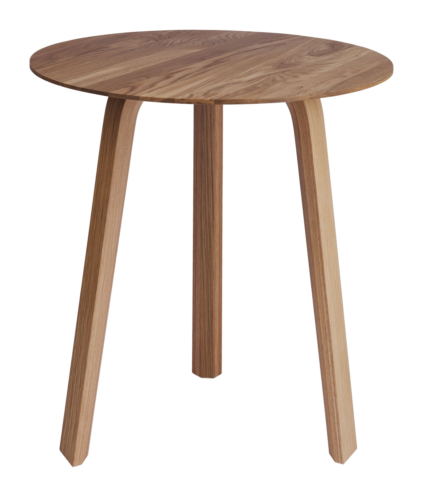 Furniture - Coffee Tables - Bella Coffee table - Ø 45 x H 49 cm by Hay - Natural oak - Oiled solid oak