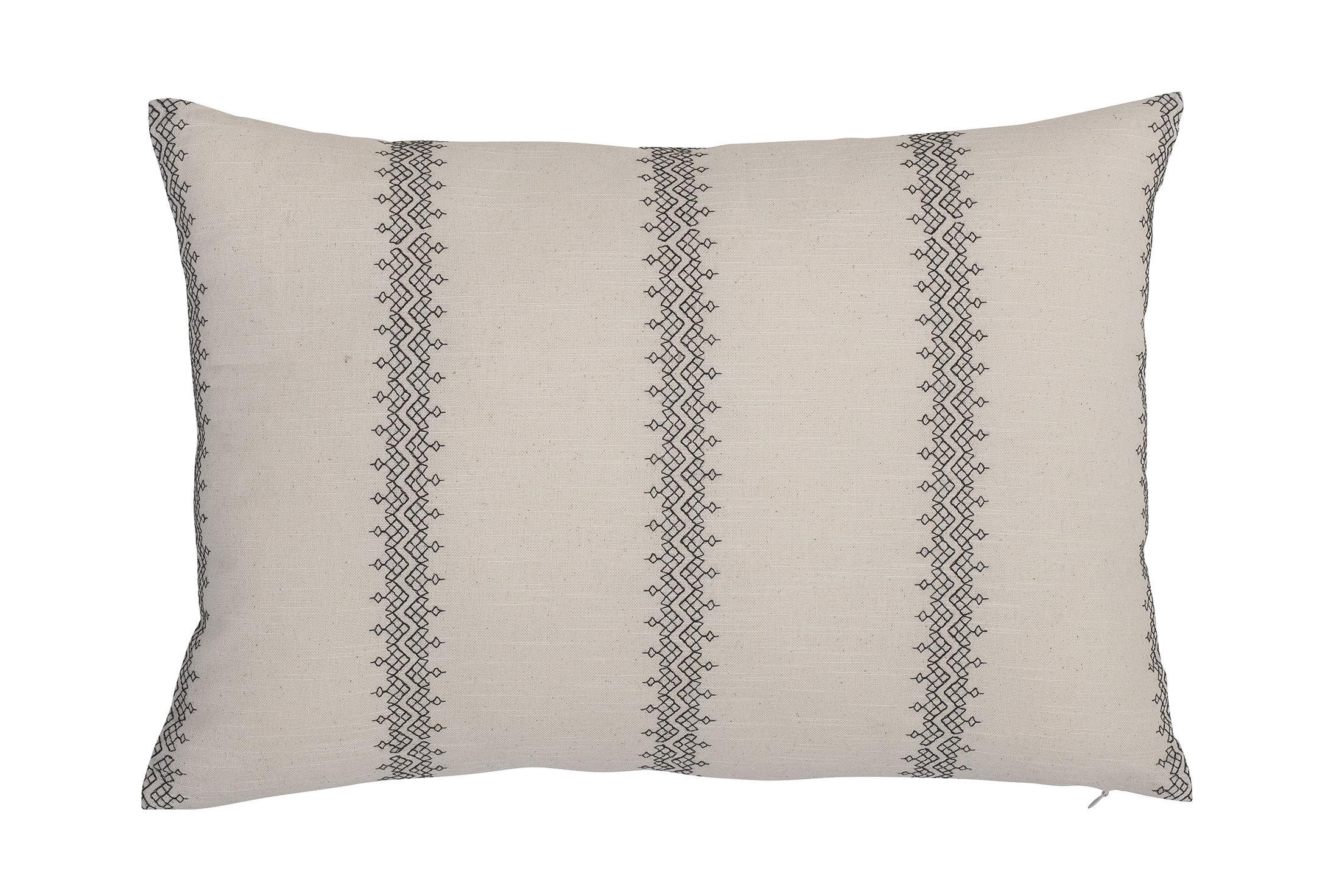 Déco - Coussins - Coussin / 35 x 50 cm - Coton - Bloomingville - Noir & blanc - Coton, Polyester