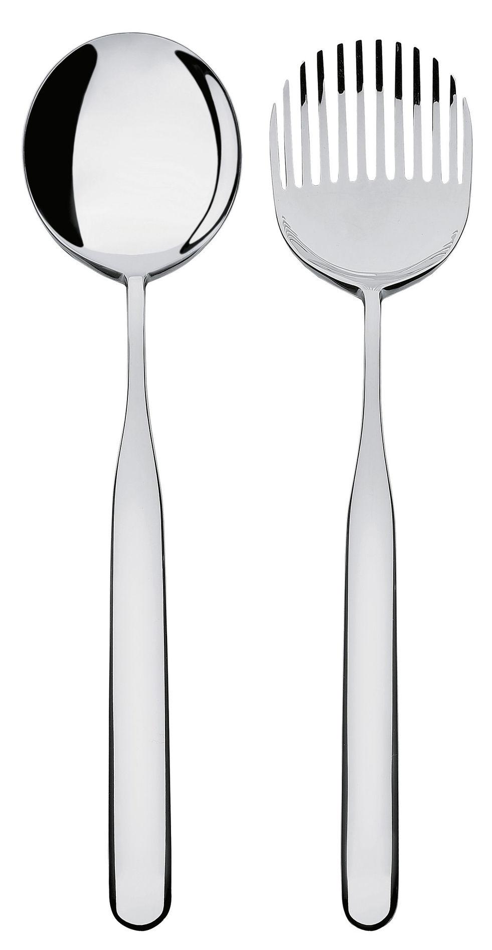 Arts de la table - Couverts de service - Couverts à salade Collo-Alto - Alessi - Acier poli miroir - Acier inoxydable 18/10