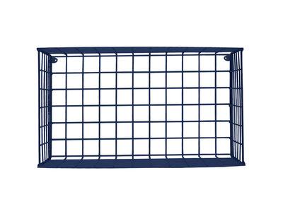 Mobilier - Etagères & bibliothèques - Etagère Wire Horizontal / à poser ou suspendre - L 66 x H 30 cm - Houtique - Bleu nuit - Acier laqué