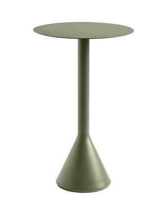 Mobilier - Mange-debout et bars - Mange-debout Palissade Cone / Ø 60 x H 105 cm - Acier - Hay - Vert Olive - Acier laqué époxy, Béton teinté