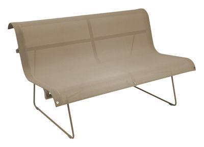Arredamento - Panchine - Panca con schienale Ellipse - 2 posti - L 130 cm di Fermob - Noce moscata - Acciaio laccato, Tela poliestere