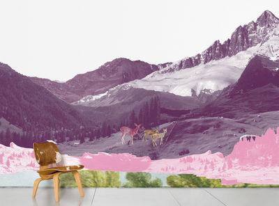Dekoration - Stickers und Tapeten - Mont Rose Panorama-Tapete 8 Bahnen - Domestic - Grau - imprägniertes Papier