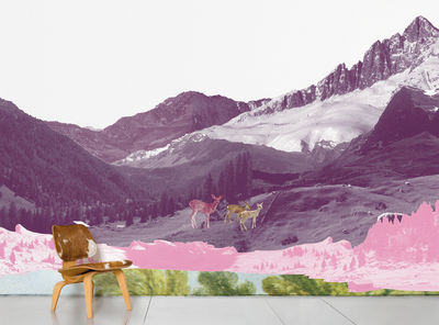Decoration - Wallpaper & Wall Stickers - Mont Rose Panoramic Wallpaper - 8 panels by Domestic -  - Intisse paper