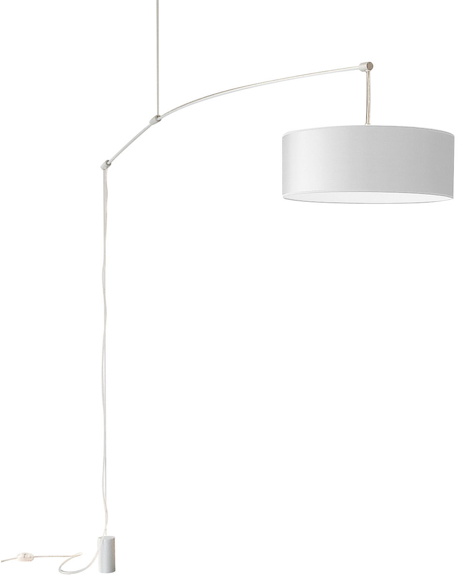 Lighting - Pendant Lighting - DT Light Pendant - Small version by De Padova - Aluminium arm /white diffuser - Anodized aluminium, Paper with parchment paper