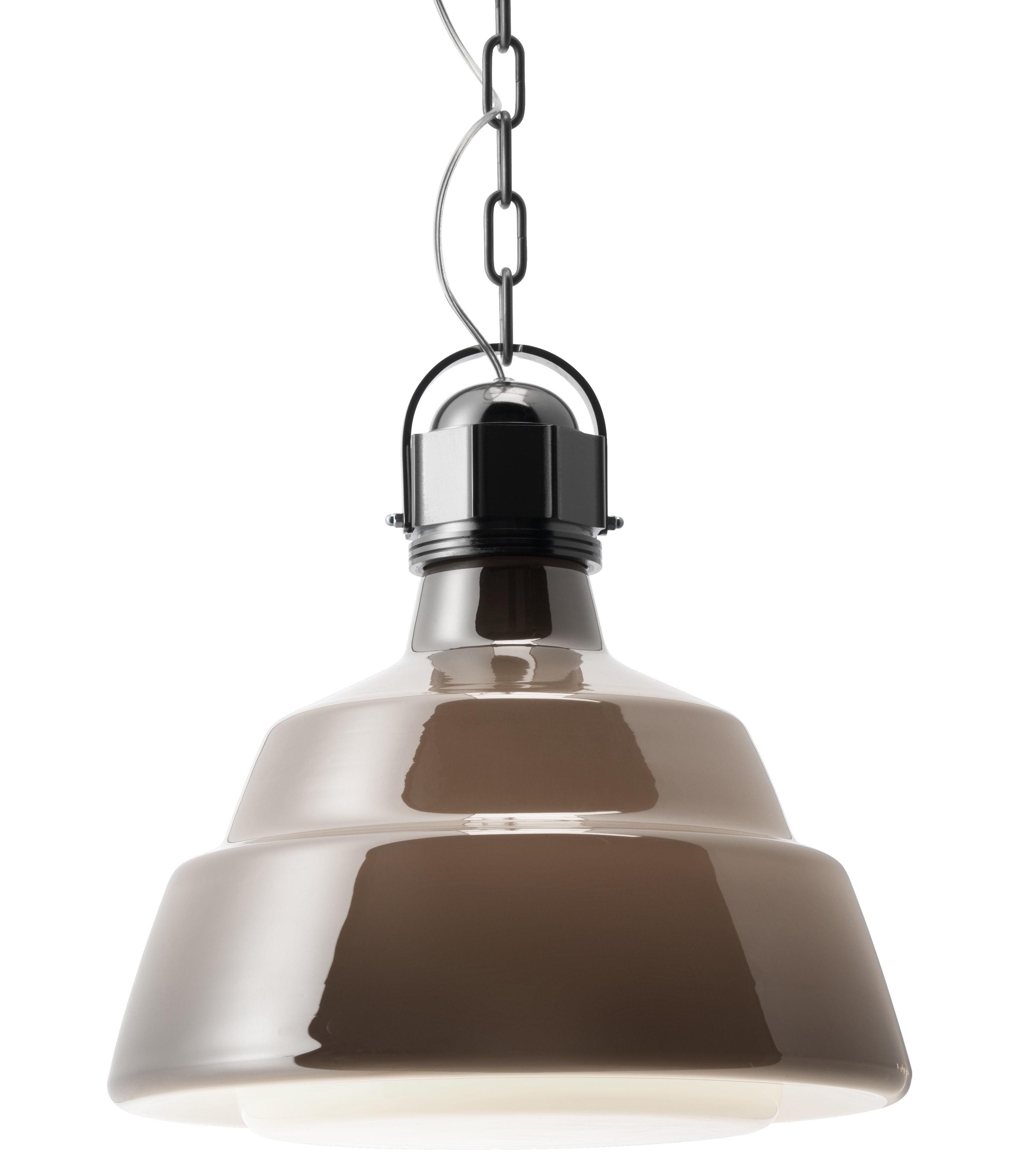 Lighting - Pendant Lighting - Glas Pendant - Ø 41 cm by Diesel with Foscarini - Ø 41 cm - Chromed / brown - Blown glass, Chromed metal