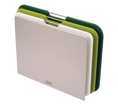Planche à découper Nest Large / Set 3 planches + support - Joseph Joseph vert en matière plastique