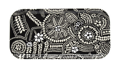 Plateau Näsiä / 43 x 22 cm - Marimekko blanc,noir en bois