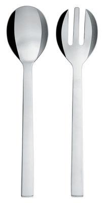 Tavola - Posate da portata - Posate da insalata Santiago di Alessi - Posate da insalata - Acciaio inossidabile lucido
