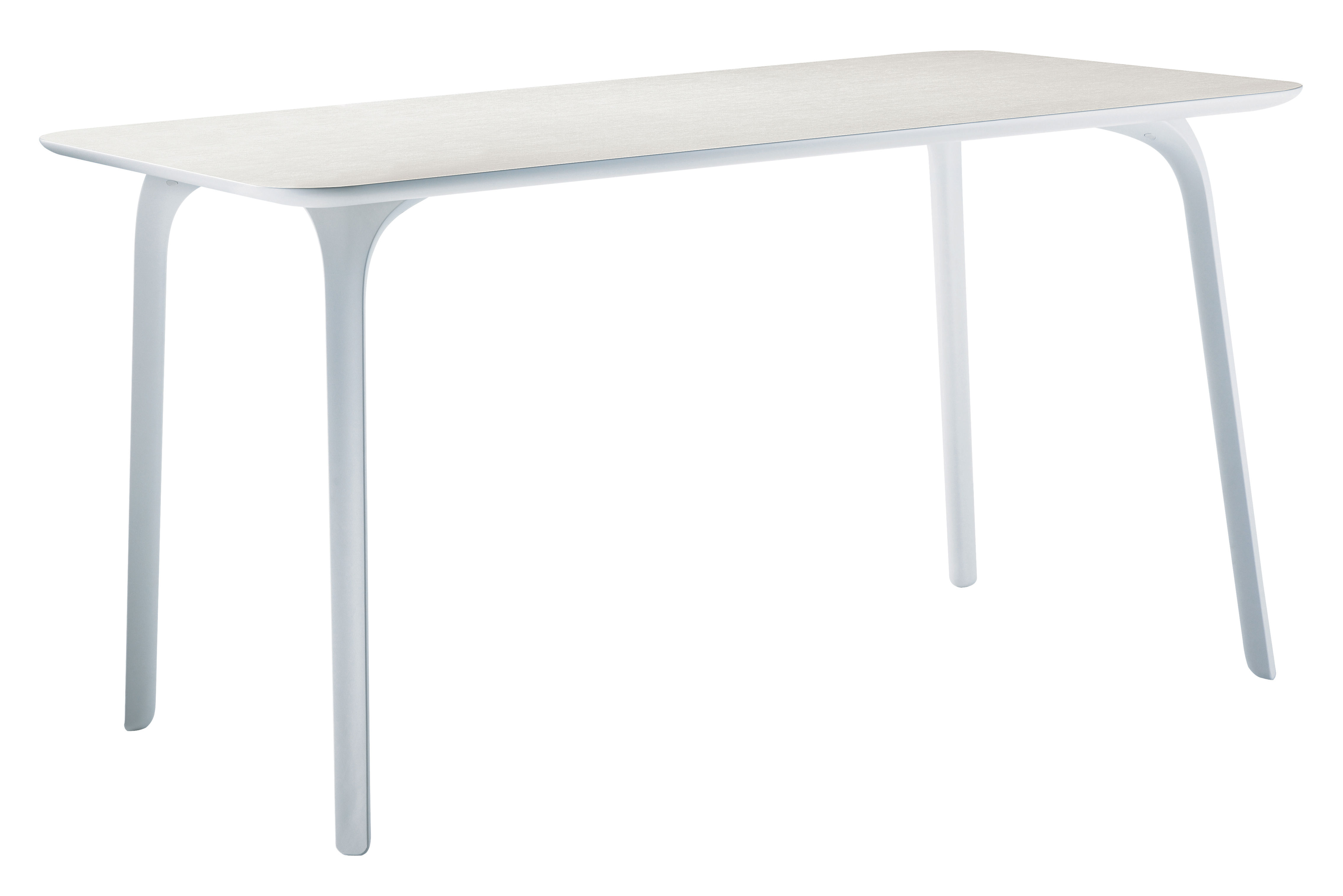 Furniture - Dining Tables - First Rectangular table - Rectangular - Indoor use by Magis - White feet - white top - Polyamide, Varnished MDF