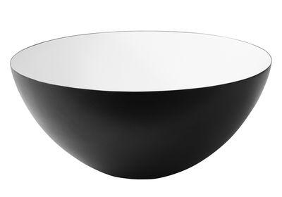 Tischkultur - Salatschüsseln und Schalen - Krenit Schale Ø 12,5 cm - Normann Copenhagen - Schwarz - innen weiß - emaillierter Stahl