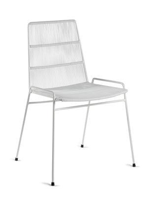 Arredamento - Sedie  - Sedia impilabile Abaco - / Fili PVC di Serax - Bianco / Struttura bianca - Acciaio termolaccato, Fili PVC