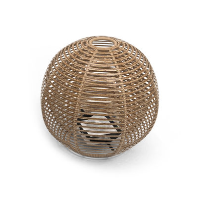 Lighting - Table Lamps - La Lampe Pailotte Sphere Solar lamp - / Large Ø 48 cm / Hybrid and connected (solar + USB dock) by Maiori - Ø 48 cm / Natural - Aluminium, Synthetic fibre