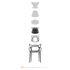 Masters Stackable armchair - Metallised by Kartell