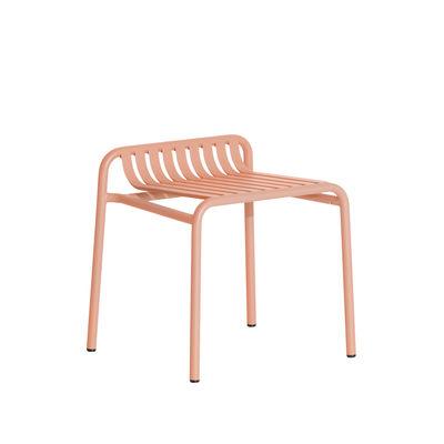 Furniture - Stools - Week-End Stool - / Aluminium by Petite Friture - Blush pink - Powder coated epoxy aluminium