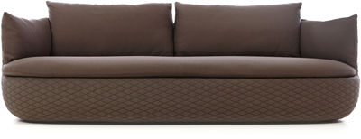 Furniture - Sofas - Bart Straight sofa by Moooi - Brown - Fabric, Foam, Wood