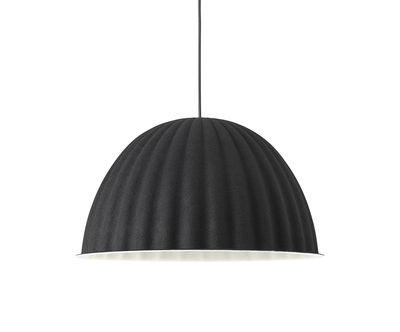 Luminaire - Suspensions - Suspension acoustique Under The Bell Small / Feutre - Ø 55 cm - Muuto - Noir - Feutre