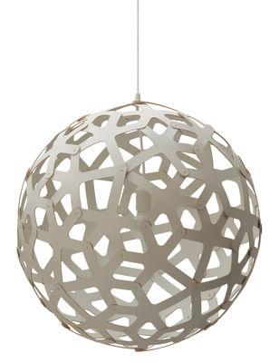 Suspension Coral / Ø 40 cm - Blanc - David Trubridge blanc en bois