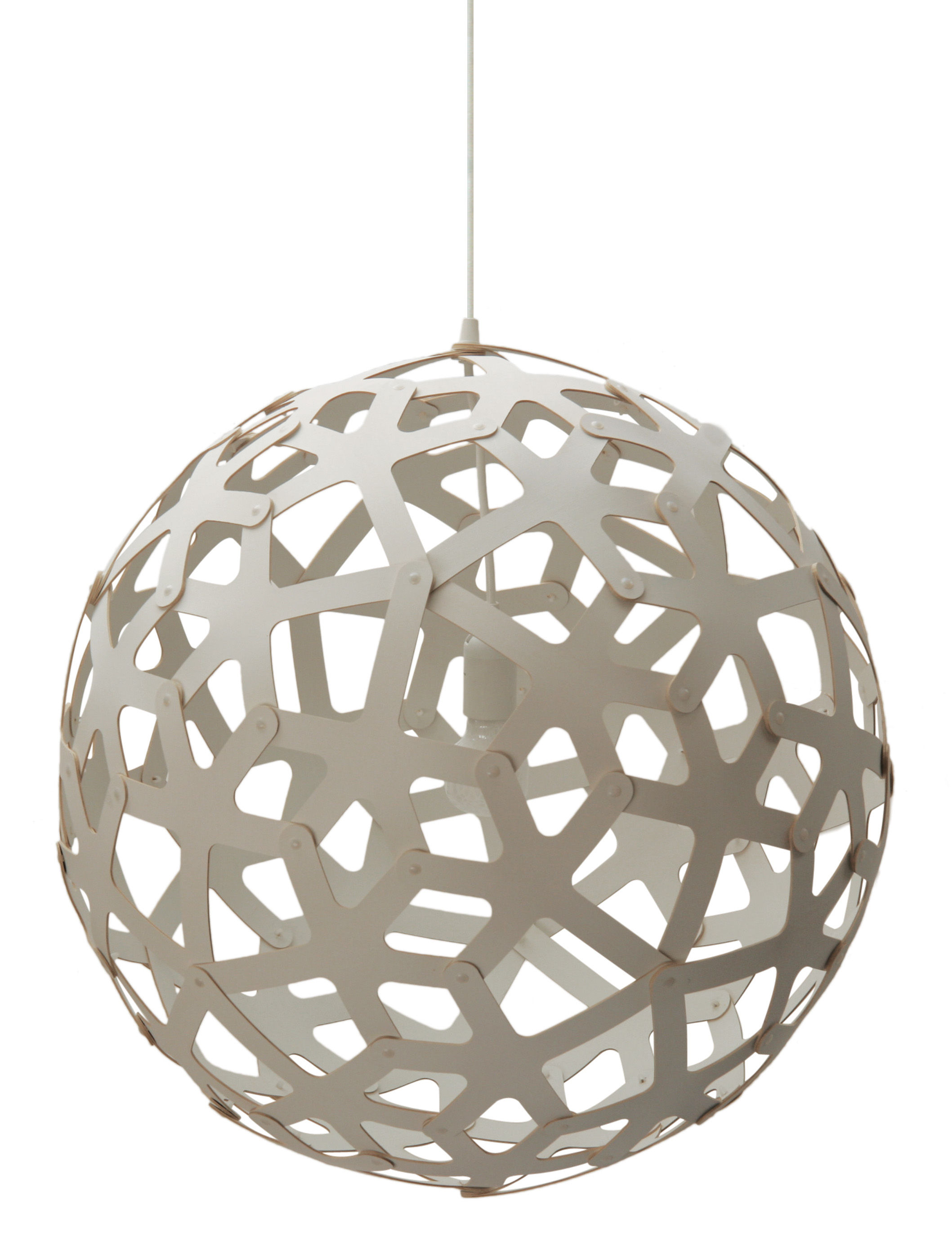 Luminaire - Suspensions - Suspension Coral / Ø 40 cm - Blanc - David Trubridge - Blanc - Pin