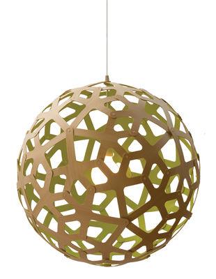 Suspension Coral / Ø 40 cm - Bicolore vert citron & bois - David Trubridge vert/bois naturel en bois