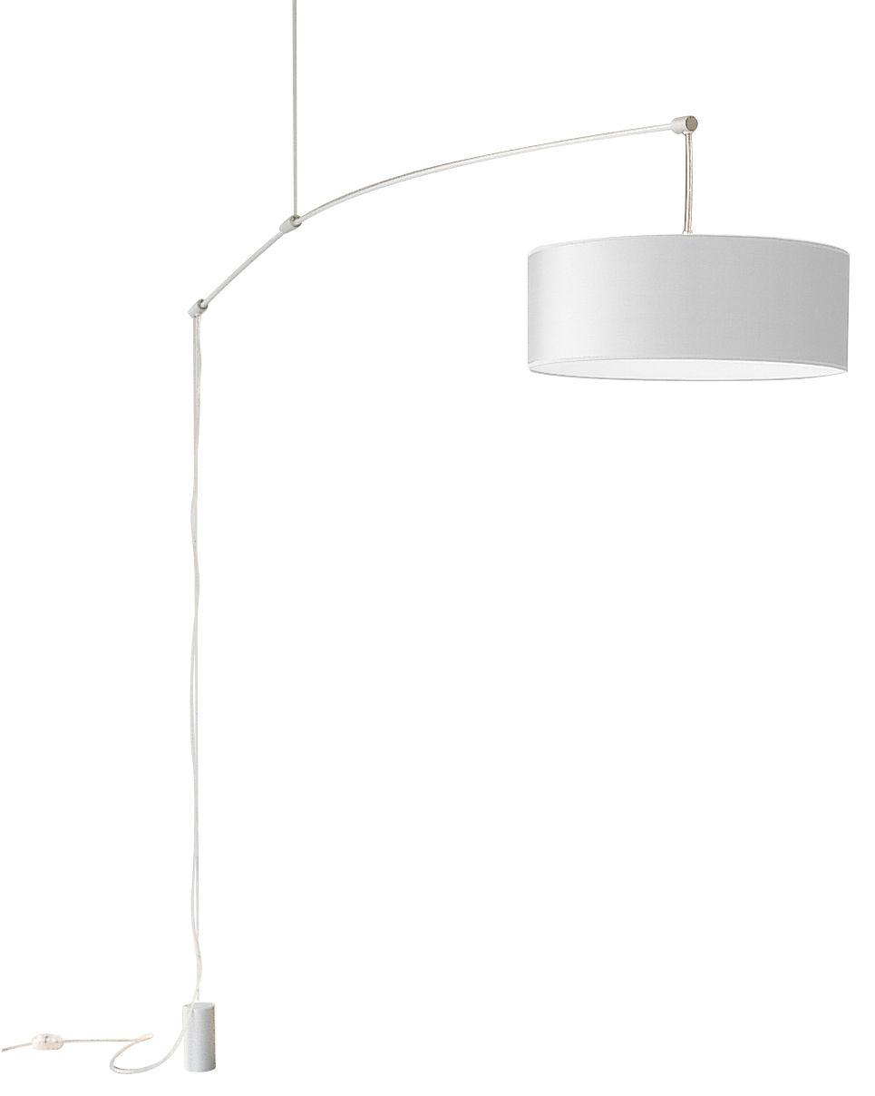 Luminaire - Suspensions - Suspension DT Light petit modèle - De Padova - Bras aluminium /abat-jour blanc - Aluminium anodisé, Papier parcheminé